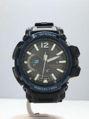 CASIO/ソーラー腕時計・G-SHOCK/アナログ/ラバー/ブラック/GPW-2000-1A2JF/電波 Bluetooth  GRAVITYMASTER グラビティマスター