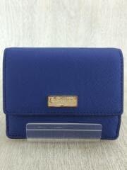 カードケース/牛革/BLU/無地