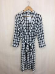 トゥデイフル/11810009/中古/Check Rough Gown/コート/36/コットン/チェック/ホワイト