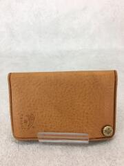カードケース/レザー/BEG/無地/ユニセックス