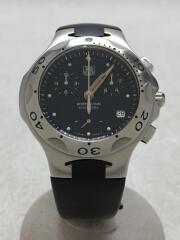 クォーツ腕時計/アナログ/ラバー/BLK/BLK/クロノグラフ ダイバーズ PROFESSIONAL