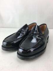 Butt Seam Loafer/BLACK Patent/ローファー/UK4/BLK/レザー