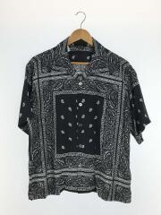 半袖シャツ/1/レーヨン/BLK