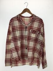 長袖シャツ/2/コットン/RED/チェック