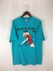 90S/BLACKFLAG/MYWAR/Tシャツ/L/コットン/BLU