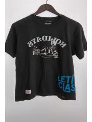 Tシャツ/M/コットン/ブラック/プリント