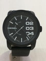 ディーゼル/クォーツ腕時計/アナログ/レザー/ブラック/黒/DZ-1479