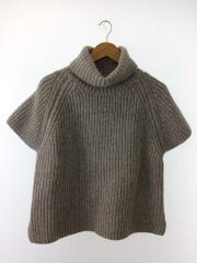 セーター(厚手)/3/ウール/グレー/プリット