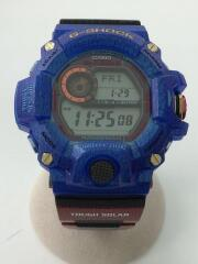 カシオ/腕時計/アナログ/ラバー/ブラック/黒/ブルー/青/GW-9406KJ-2JR