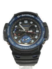 クォーツ腕時計・G-SHOCK/デジアナ/BLU/ブルー/カシオ