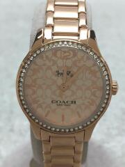 クォーツ腕時計/アナログ/--/ピンク