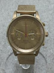 NEST104/NEVIL/クォーツ腕時計/アナログ/GLD/GLD