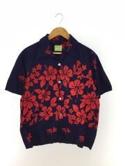 アロハシャツ/Ui-maikai/60S~70S/ハイビスカス柄/ハワイ製/--/コットン/NVY/総柄