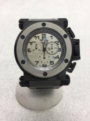 クォーツ腕時計/アナログ/ステンレス/GRY/BLK/14515