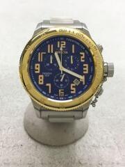 クォーツ腕時計/アナログ/ステンレス/BLU/SLV/15555