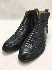 ブーツ/26cm/メッシュ/BLK/レザーHIROKAWA/日本製/7817