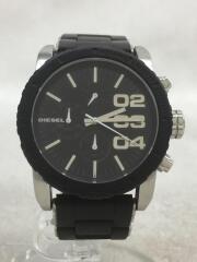 クォーツ腕時計/アナログ/ラバー/BLK/BLK/DZ5320