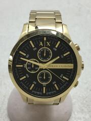 クォーツ腕時計_ステンレス/アナログ/ステンレス/BLK/GLD/AX2137