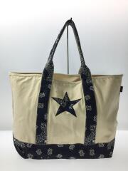 STAR TOTE BAG/トートバッグ/キャンバス/WHT/SOPH-180142