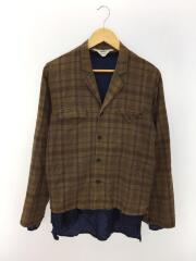 16AW/Sho-ken Shirt + Shadow/レイヤード/長袖シャツ/2/コットン/BRW/チェック