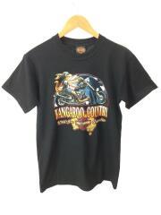 Tシャツ/コットン/ブラック/イラスト/ハーレーダヴィッドソン/メンズ