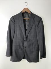 テーラードジャケット/44/ウール/GRY/チェック