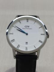 1121DW/クォーツ腕時計/アナログ/レザー/WHT/BLK/箱有/01020163328