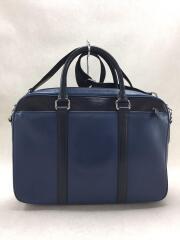 ブリーフケース/レザー/BLU/無地/F56018/角擦れ考慮/K1661/ビジネスバッグ