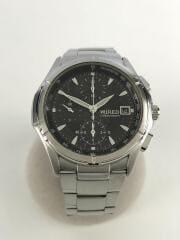 クォーツ腕時計/アナログ/ステンレス/BLK/SLV/7T92-0KB0