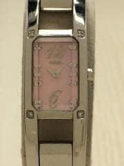 クォーツ腕時計/アナログ/ステンレス/PNK/SLV/1N00-0NN0