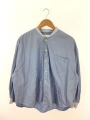 LATALIER/長袖シャツ/--/コットン/BLU/無地/ビックシルエットリブカラーシャツ
