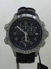Khaki X-Wind GMT/クォーツ腕時計/アナログ/ラバー/ブラック/H77912335///クロノグラフ//カーキ/