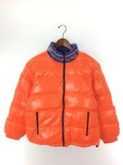2020SS/Shiny Reversible Puffy Jacket/S/ナイロン/ブルー/オレンジ