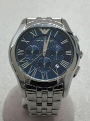クォーツ腕時計/アナログ/ブルー/シルバー/AR-1787/ベルトスレキズあり