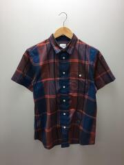 ショートスリーブマドラスチェックシャツ/S/ポリエステル/マルチカラー/チェック/NR21812