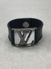 ブラスレ・ホッケンハイム/ブレスレット/PVC/ブラック/M6295D/ロゴ部分キズあり