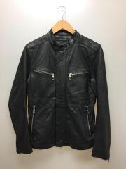 レザージャケット/48/羊革/ブラック
