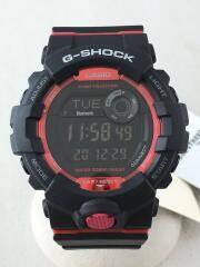 ソーラー腕時計/デジタル/ラバー/RED/BLK/GBD-800-1JF