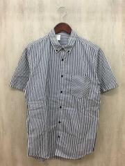 半袖シャツ/40/コットン/WHT/ストライプ