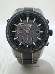 ソーラー腕時計/アナログ/チタン/BLK/SLV/7X52-0AF0/SBXA015