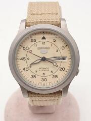 自動巻腕時計/アナログ/ナイロン/CRM/BEG/7S26-02JC/5/21JEWELS