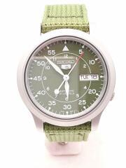 自動巻腕時計/アナログ/ナイロン/GRN/7S26-02J0/5/21JEWELS