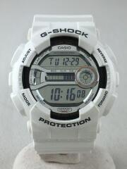 クォーツ腕時計/デジタル/ラバー/SLV/WHT/GD-110