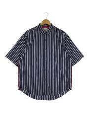 ボックスシルエットシャツ/3/コットン/BLU/ストライプ