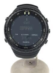 CORE/クォーツ腕時計/デジタル/ラバー/ブラック