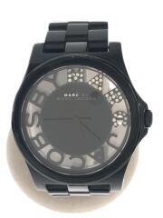 クォーツ腕時計/アナログ/ブラック/デザイナーズ/セカスト/古着/中古/USED