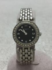 クォーツ腕時計/アナログ/ステンレス/BLK/SLV/B530