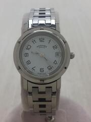 腕時計/cl4.210/アナログ/ステンレス/WHT/SLV/エルメスクリッパー/2504897// Clipper