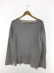 長袖Tシャツ/L/コットン/WHT/ボーダー/SOPH-160002/SIDE TAPE BORDER BOAT