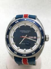 自動巻腕時計/アナログ/レザー/NVY/h354050